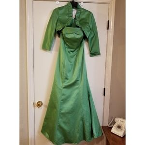 Green Strapless Prom/Homecoming Court/Formal